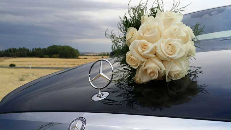 luxury wedding car hire Madrid
